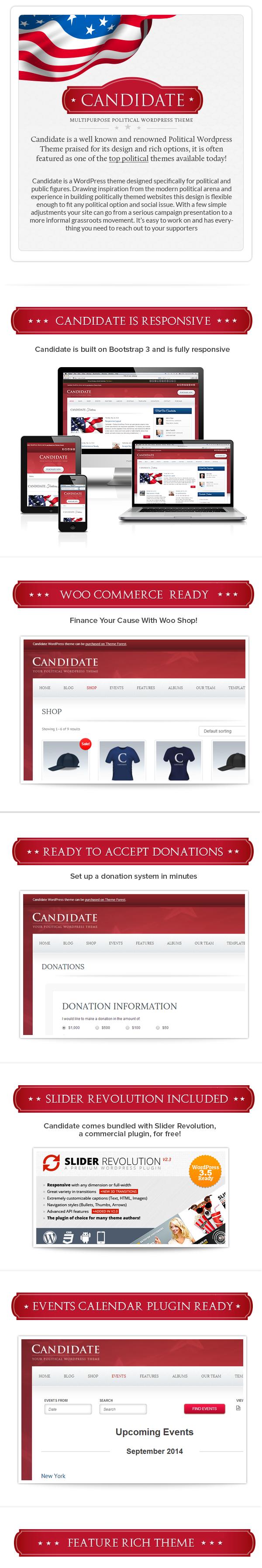 المرشح - موضوع WordPress السياسي - 1