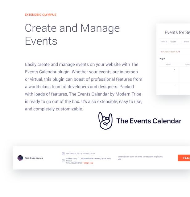 إدارة الأحداث مع البرنامج المساعد