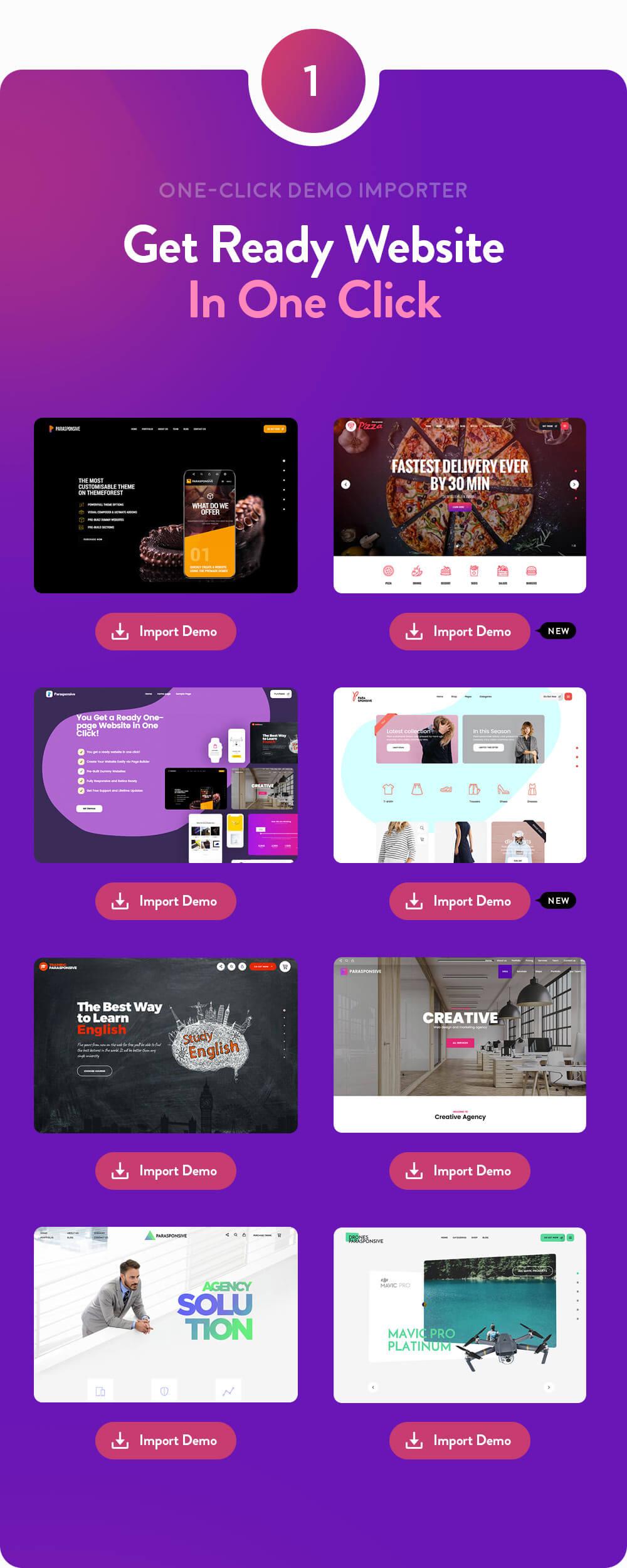 Parasponsive - سمة WooCommerce مقصودة من صفحة واحدة - 2