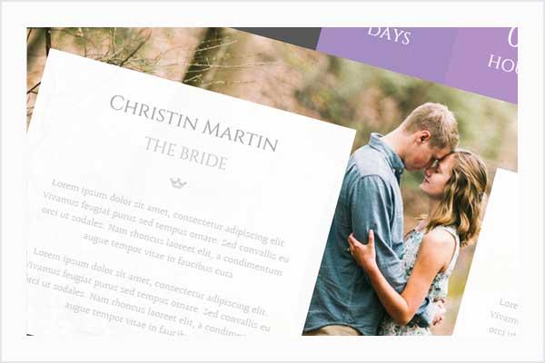 صناعة الزفاف - زفاف زوجين متعدد الأغراض WP - 12