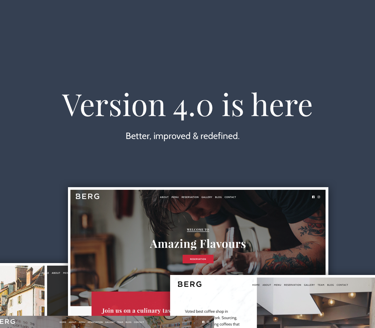 BERG - سمة WordPress للمطعم - 1