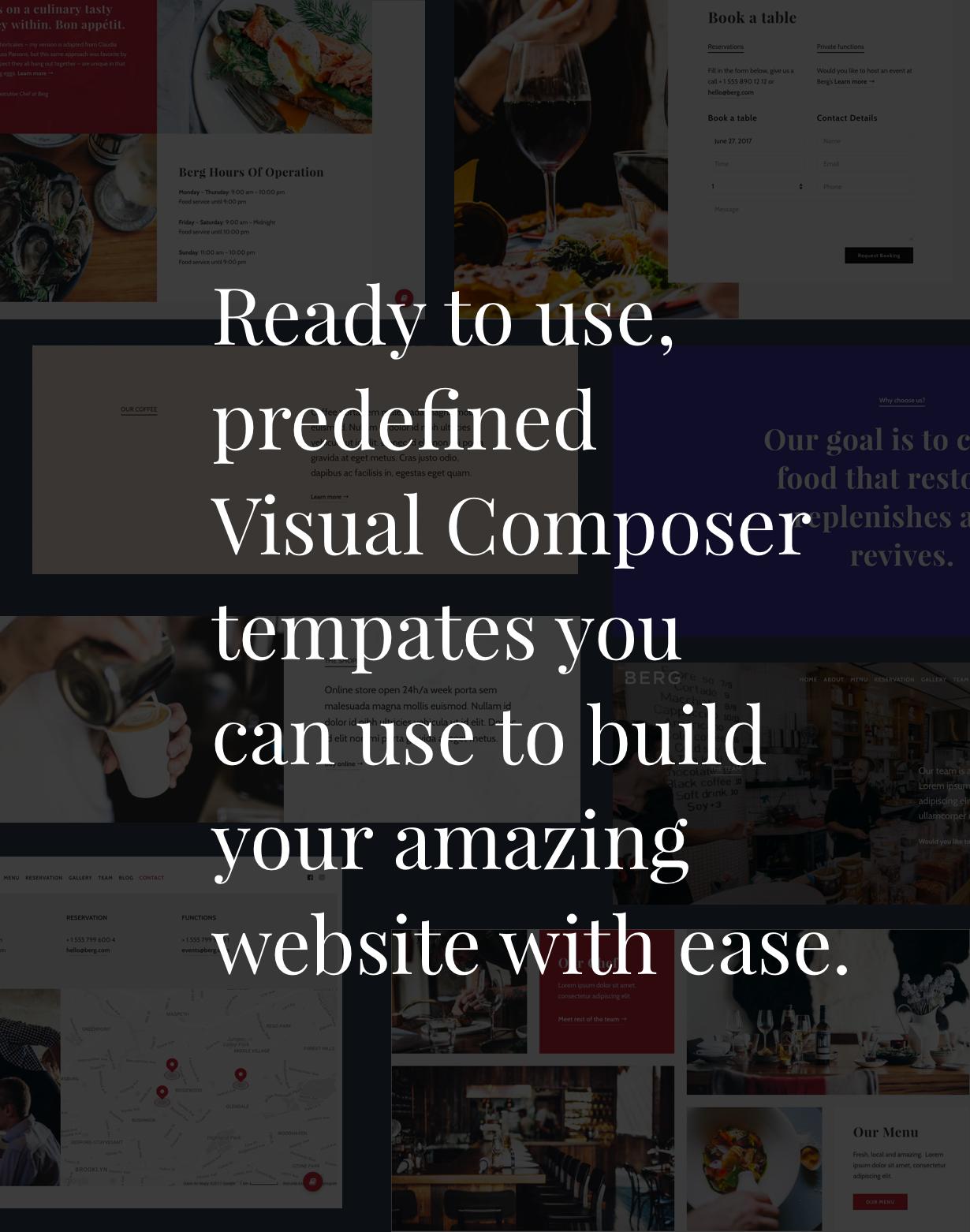 BERG - سمة WordPress للمطعم - 2