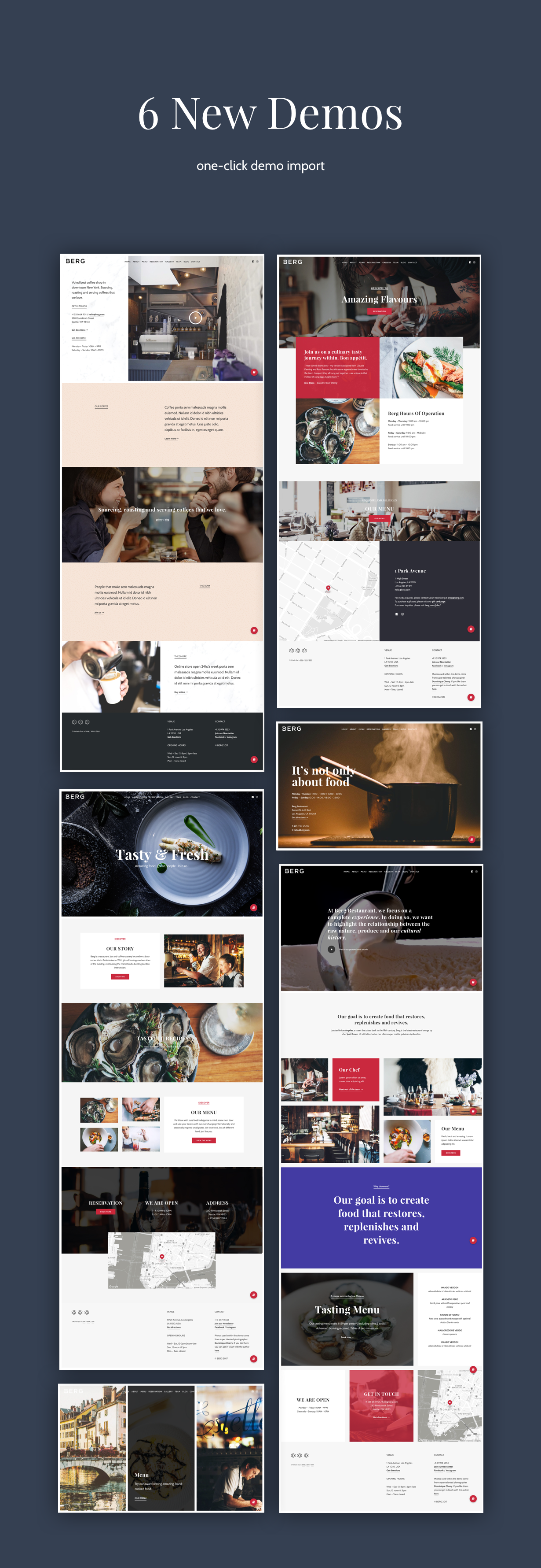 BERG - سمة WordPress للمطعم - 3