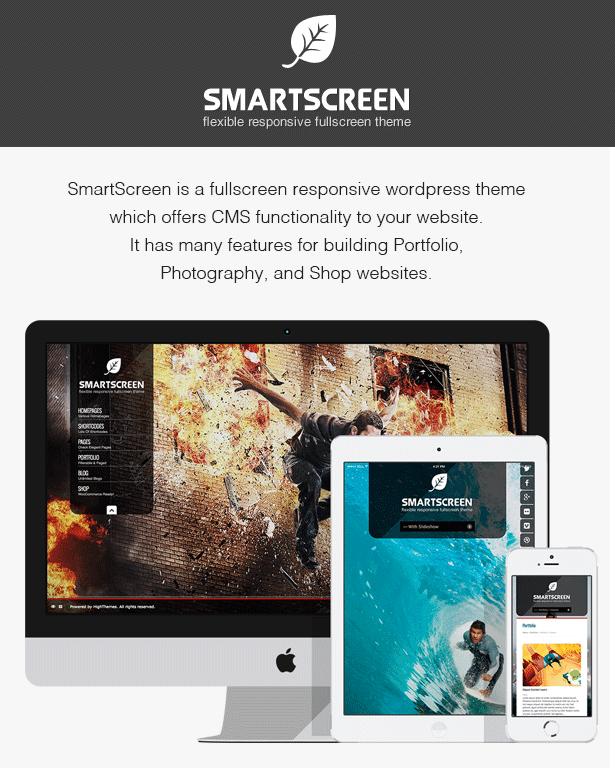 سمة ووردبريس المستجيبة بملء الشاشة SmartScreen - 2