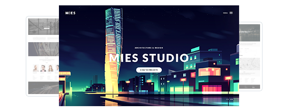 MIES - سمة WordPress للعمارة الطليعية - 2