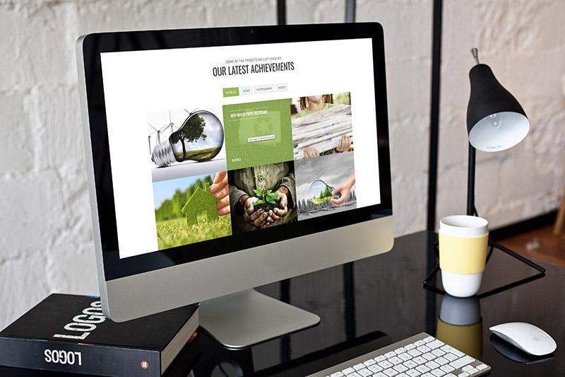 إعادة التدوير البيئي - موضوع البيئة والطبيعة WordPress - 2