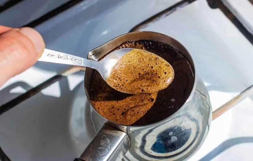 قهوة عربية - رغوة قهوة