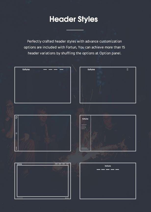 فورتون |  موضوع ووردبريس متعدد المفاهيم - 11