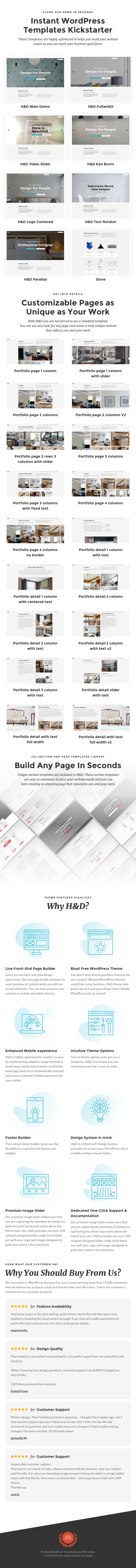H&D 2.0 - سمة WordPress للتصميم الداخلي - 1