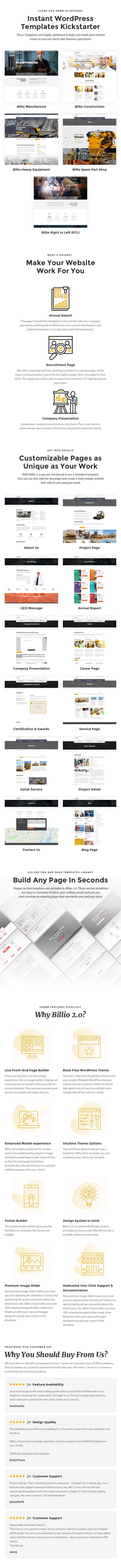 Billio 2.0 - موضوع WordPress للهندسة والصناعية - 1