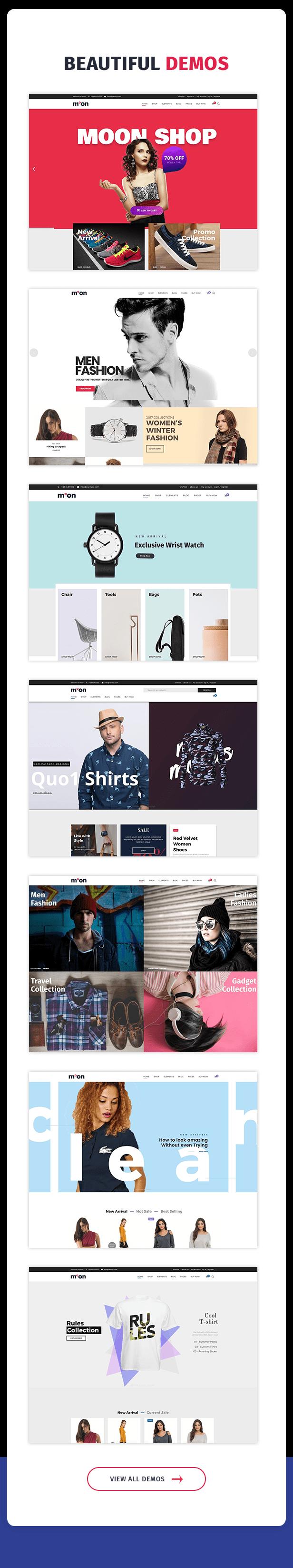 Moon Shop - سمة WordPress للتجارة الإلكترونية المستجيبة لـ WooCommerce - 9