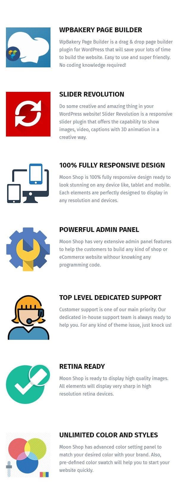 Moon Shop - سمة WordPress للتجارة الإلكترونية المستجيبة لـ WooCommerce - 12