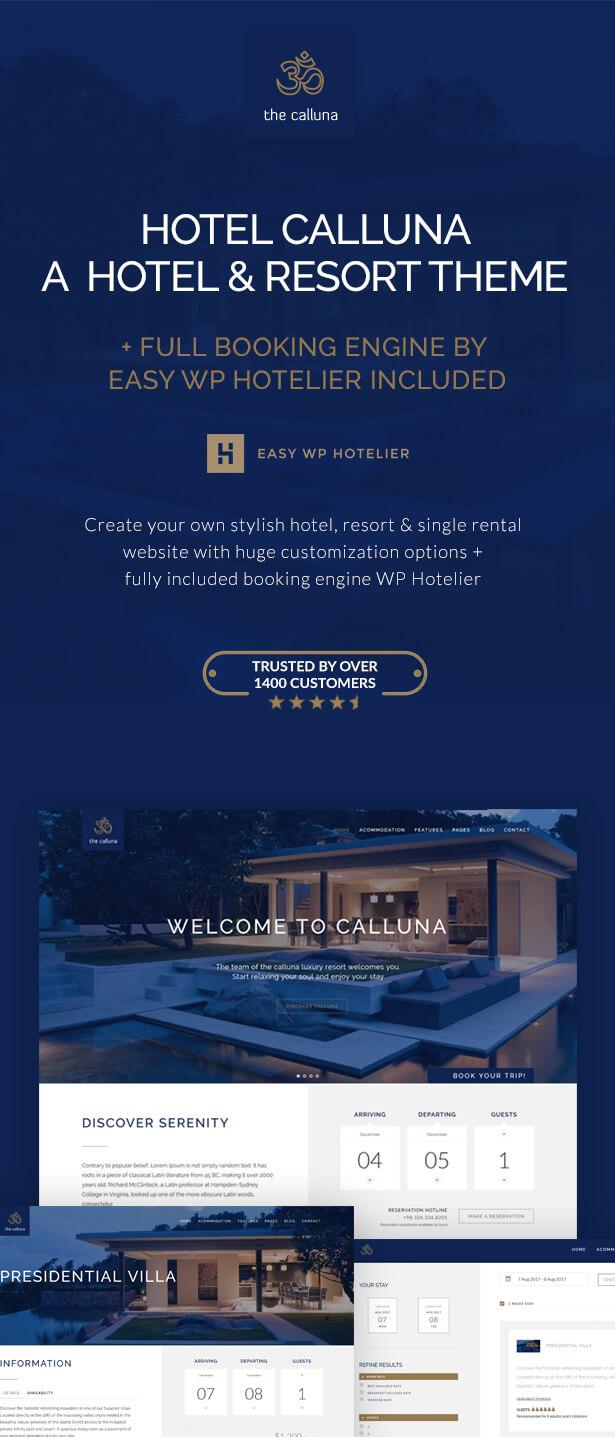 فندق كالونا - موضوع فندق ومنتجع ووردبريس - 1