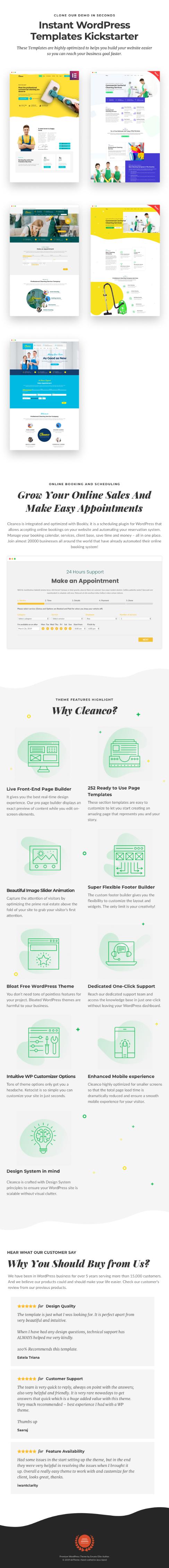 Cleanco 3.0 - سمة WordPress الخاصة بشركة خدمات التنظيف - 1