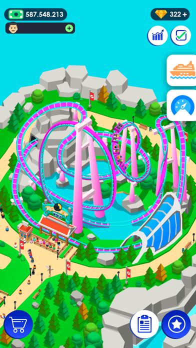 Idle Theme Park لعبة التاجر أكو وب