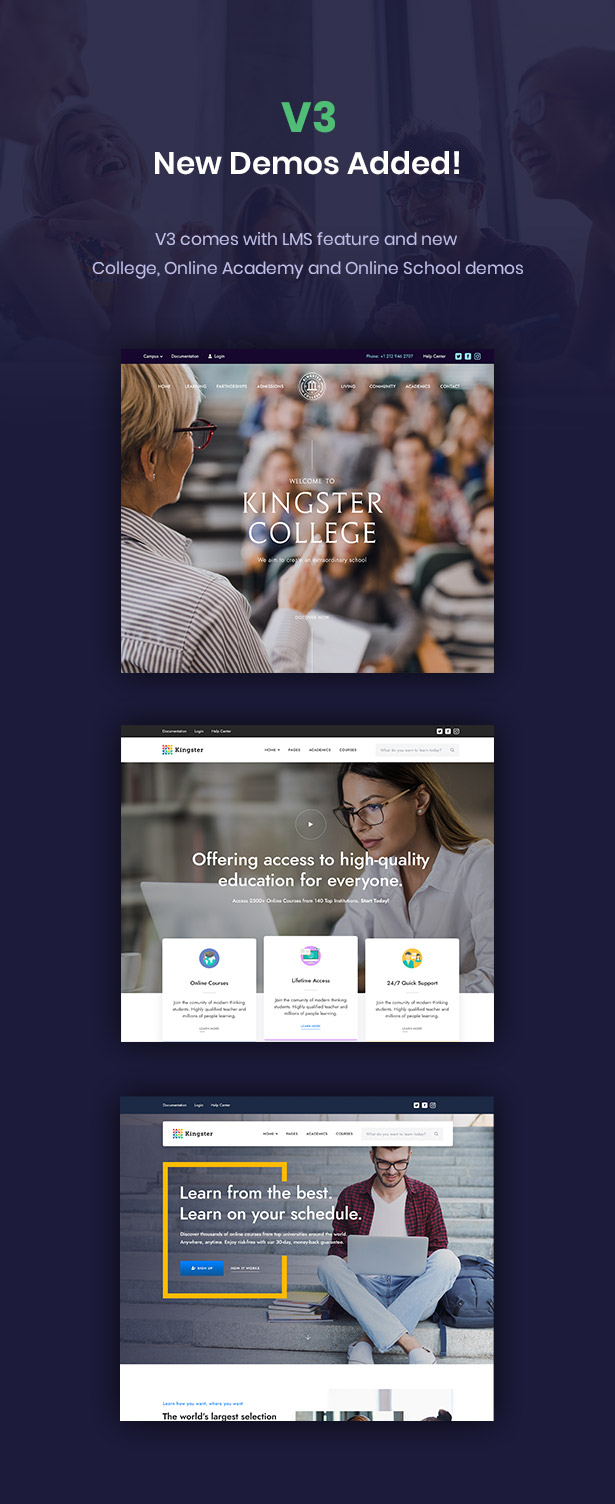 Kingster - Education WordPress للجامعة والكلية والمدرسة - 1