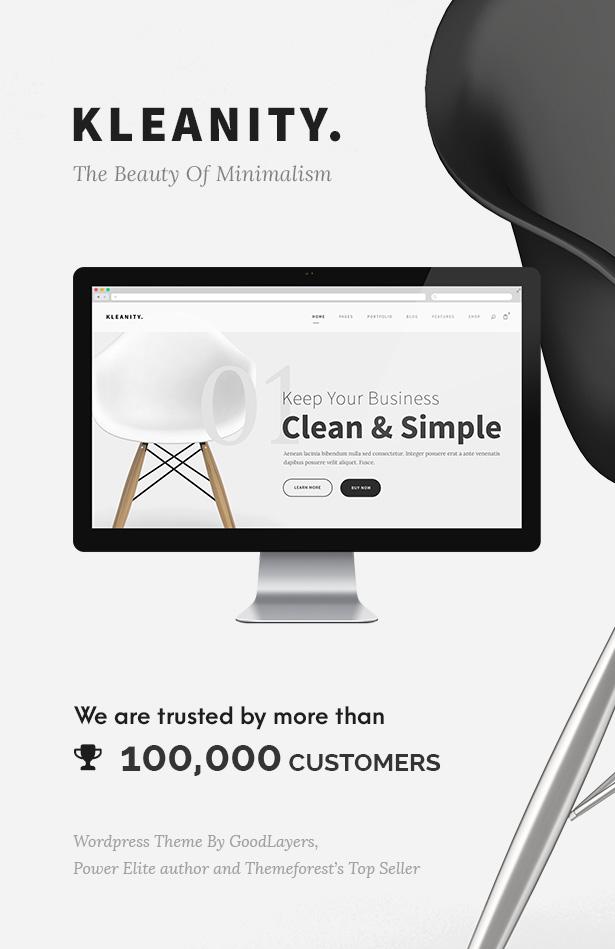 Kleanity - سمة WordPress بسيطة / محفظة إبداعية - 1