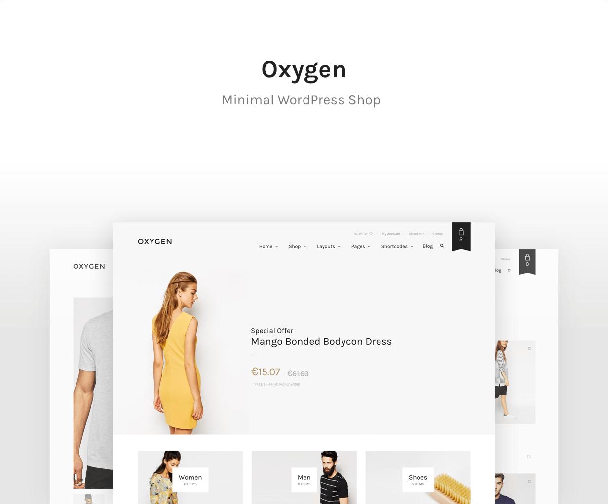 Oxygen - أفضل ثيم WooCommerce