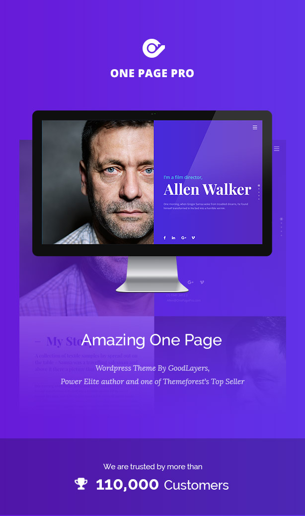 One Page Pro - سمة WordPress متعددة الأغراض ذات صفحة واحدة - 1