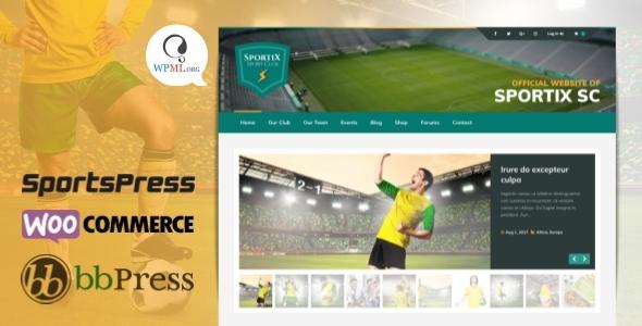 موضوع Sportix WordPress SportsPress