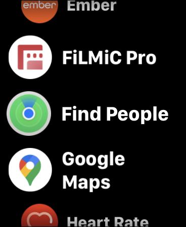 اضغط على البحث عن أشخاص على Apple Watch
