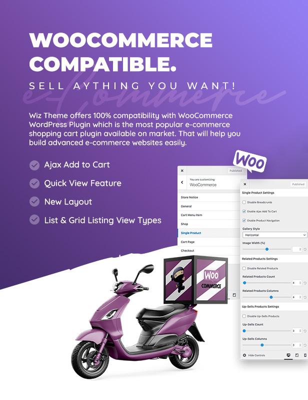 Wiz - سمة WordPress متعددة الأغراض من Elementor - 4