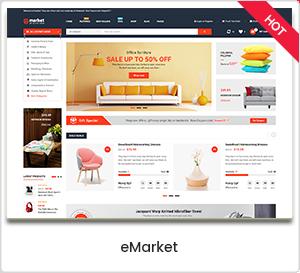 eMarket - سمة WooCommerce WordPress للتجارة الإلكترونية ومتعددة الأغراض