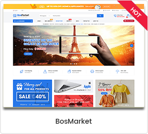 BosMarket - سمة ووردبريس متعددة البائعين مرنة