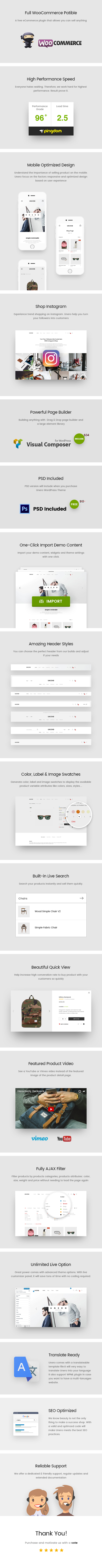 Unero - موضوع AJAX WooCommerce WordPress البسيط - 10