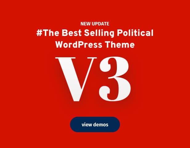 إصدار ثيم WordPress السياسي 3