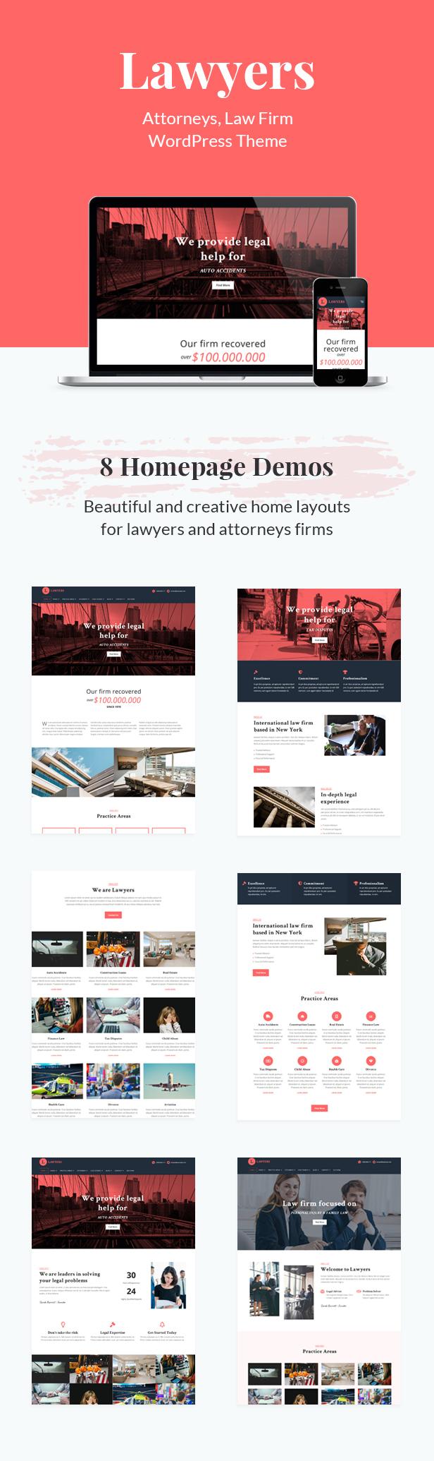 المحامون - موضوع وورد الأعمال المتجاوبة - 2
