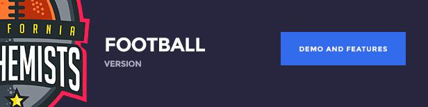 The Alchemists WordPress Theme - نسخة كرة القدم الأمريكية