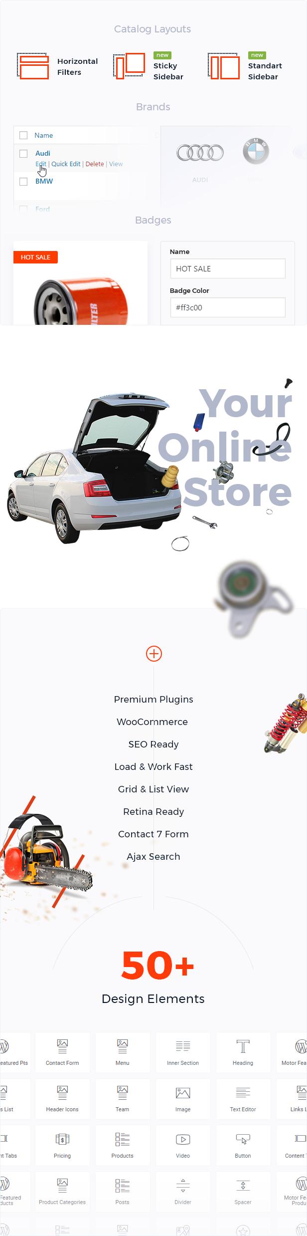 السيارات - السيارات ، قطع الغيار ، الخدمة ، المعدات والإكسسوارات متجر WooCommerce - 4