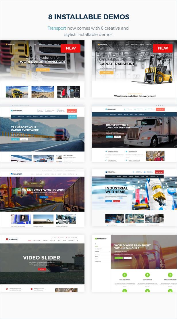 النقل - WP Transportation & Logistic Theme - 4