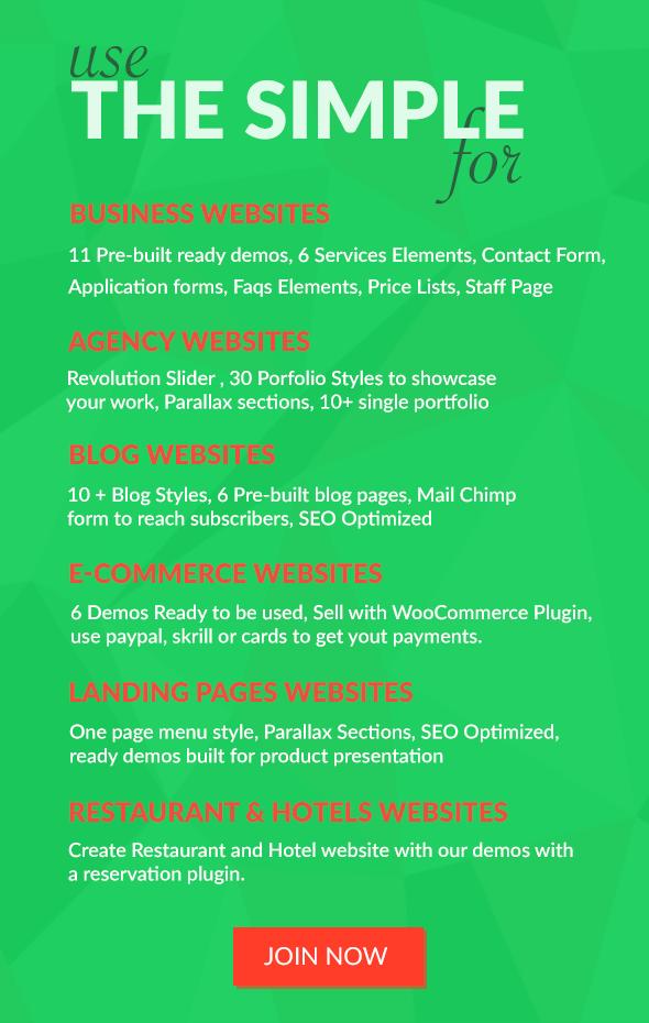 The Simple - Business WordPress Theme - 12