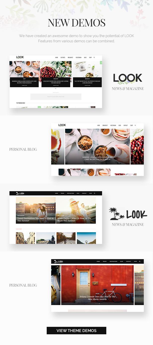 انظر: Minimal Magazine and Blog WordPress Theme - 1