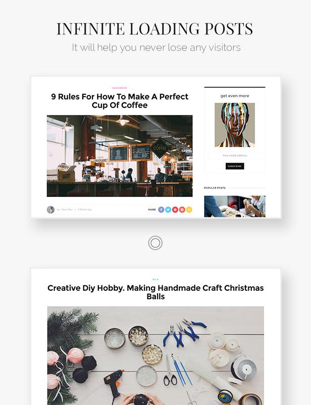انظر: Minimal Magazine and Blog WordPress Theme - 8