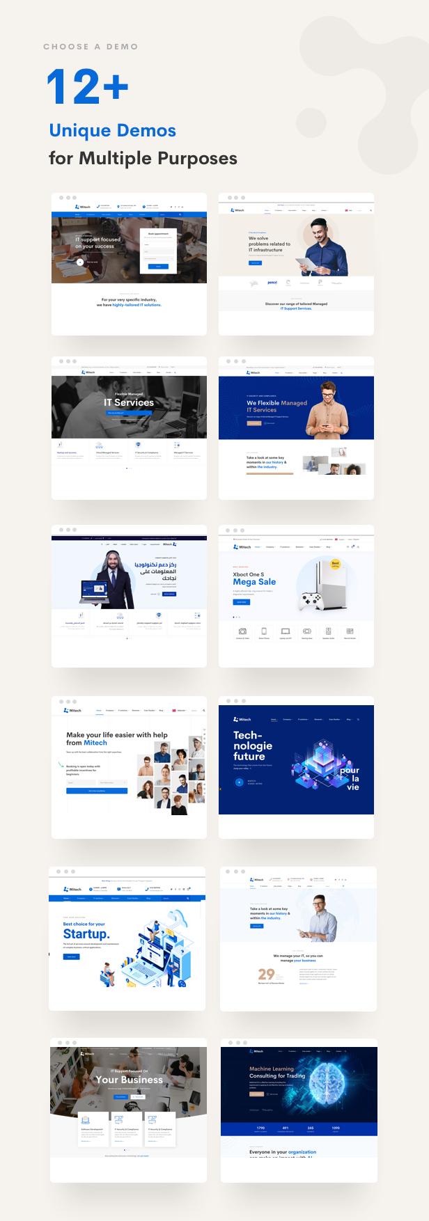 حلول تكنولوجيا المعلومات Mitech - موضوع ووردبريس للتكنولوجيا وحلول تكنولوجيا المعلومات والخدمات - الصفحات الرئيسية