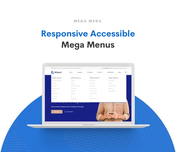 حلول تكنولوجيا المعلومات Mitech - موضوع التكنولوجيا وحلول تكنولوجيا المعلومات والخدمات ووردبريس - قائمة ميجا