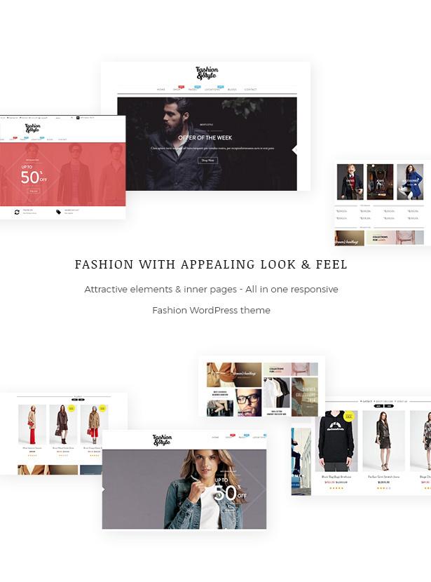 الكل في واحد موضوع WooCommerce WordPress الأزياء