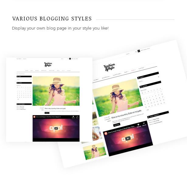 مختلف تخطيطات صفحة المدونة Fashion WooCommerce WordPress Theme