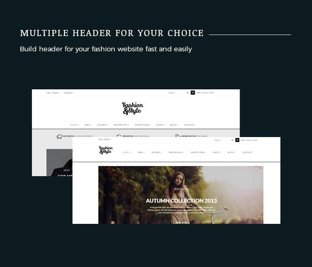 متعددة الرؤوس أزياء WooCommerce مستجيبة WordPress الموضوع