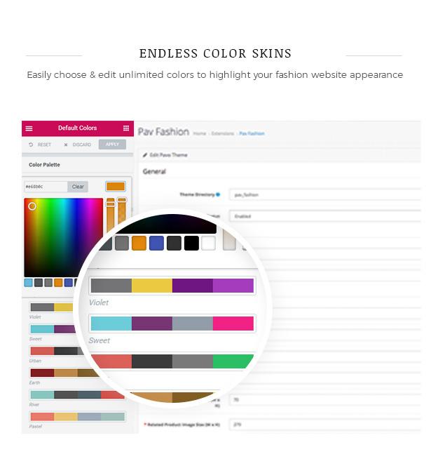 مخططات الألوان المحددة مسبقًا سمة WooCommerce WordPress