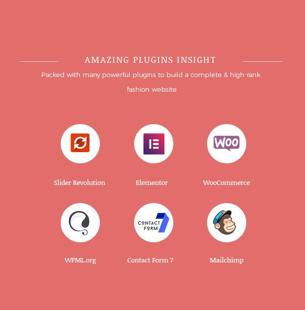 وشملت الإضافات المتعددة Fashion WooCommerce WordPress Theme