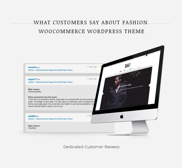 مراجعات العملاء Fashion WooCommerce Responsive WordPress Theme