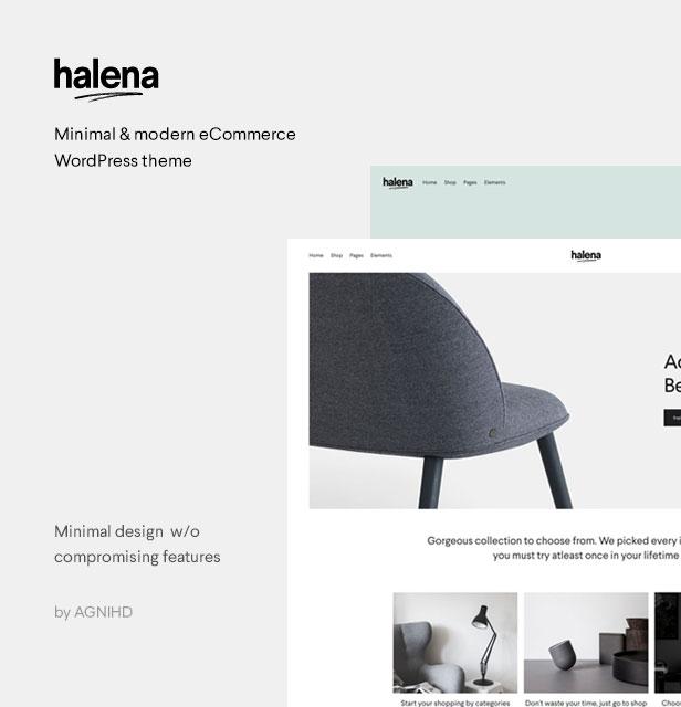 هالينا |  سمة ووردبريس للتجارة الإلكترونية البسيطة والحديثة - 2