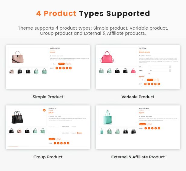 أنواع المنتجات