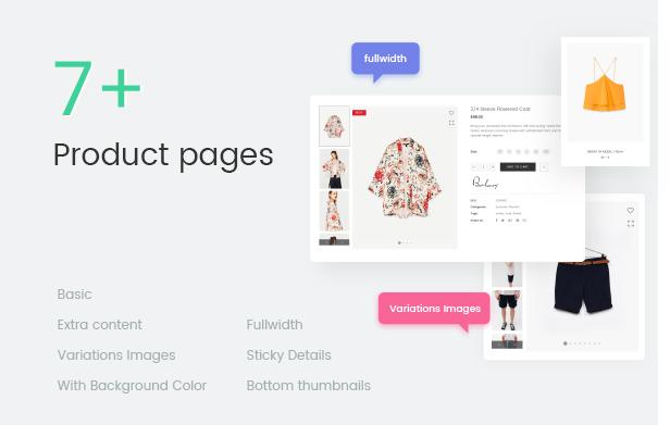 Fashion WooCommerce WordPress Theme - 7+ صفحات منتج