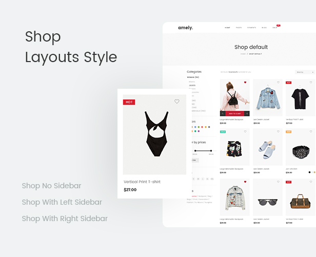 Fashion WooCommerce WordPress Theme - أنماط تخطيطات المتاجر