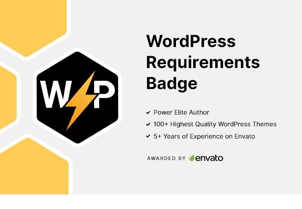شارة متطلبات WordPress